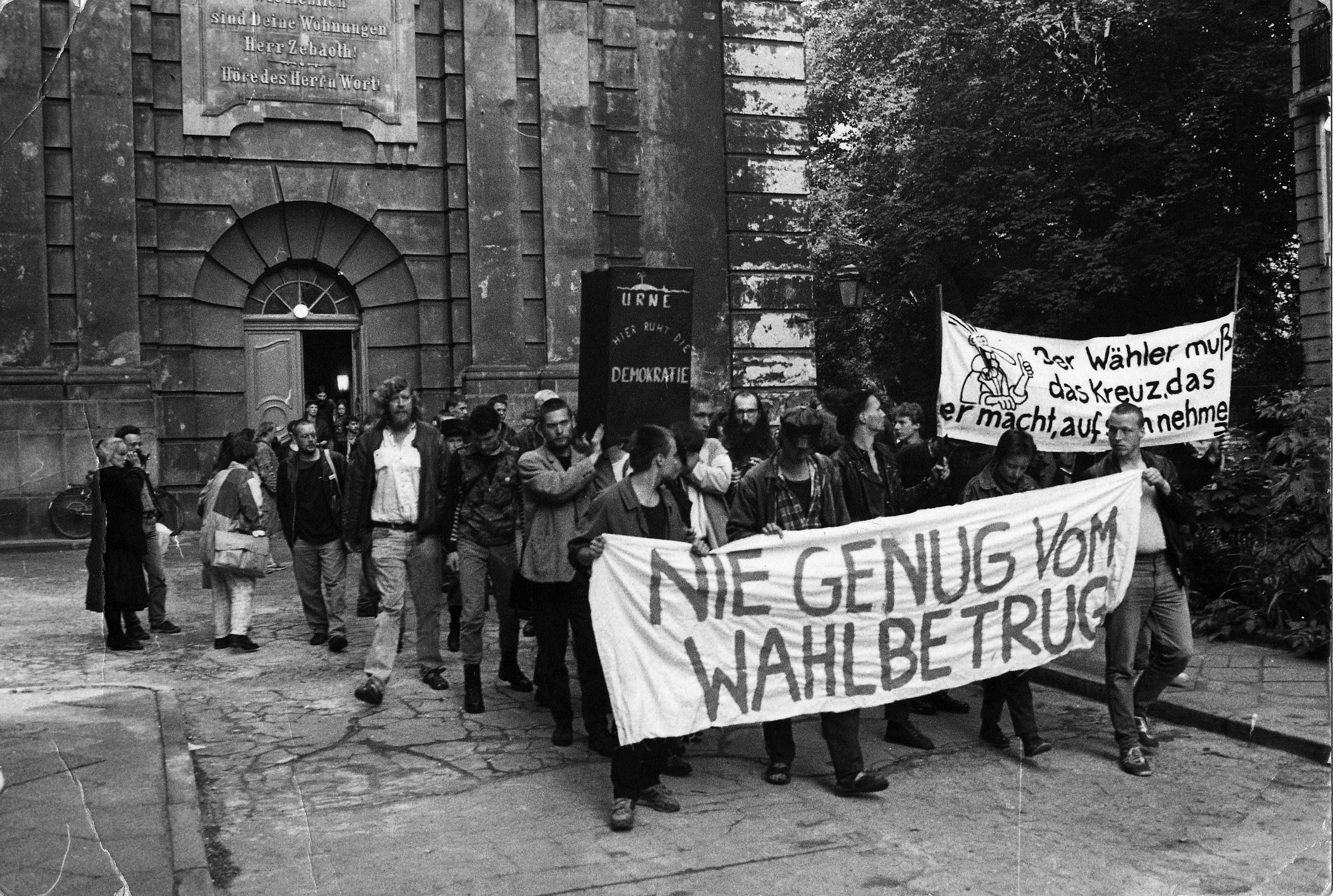 7. Mai 1989:Proteste gegen Wahlfälschung in der DDR