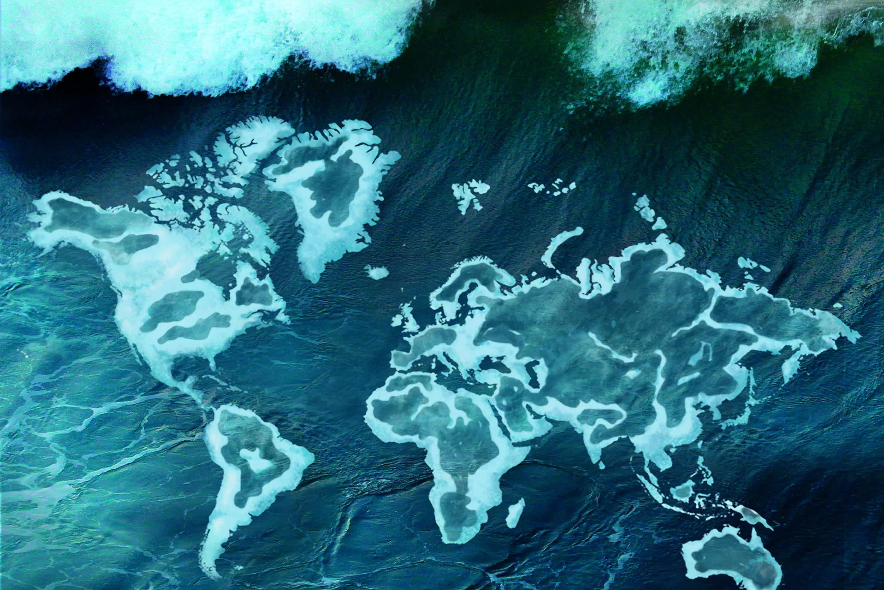 Hohe Welle im Weltmeer