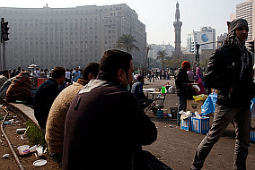 Demonstranten auf dem Tahrir-Platz am 22. November 2011