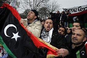 Demonstranten in Libyen