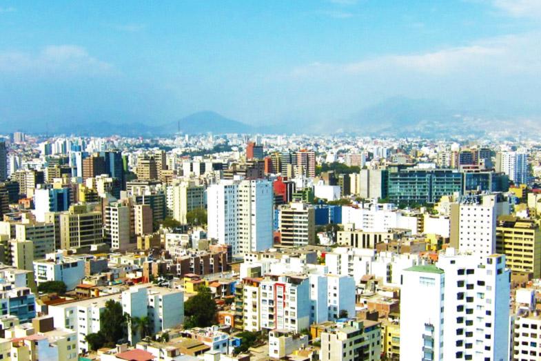 Skyline von Lima, Peru.