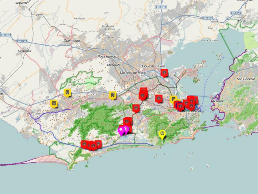 Rio De Janeiro Karte.Das Ausmass Der Zwangsraumungen In Rio De Janeiro Heinrich