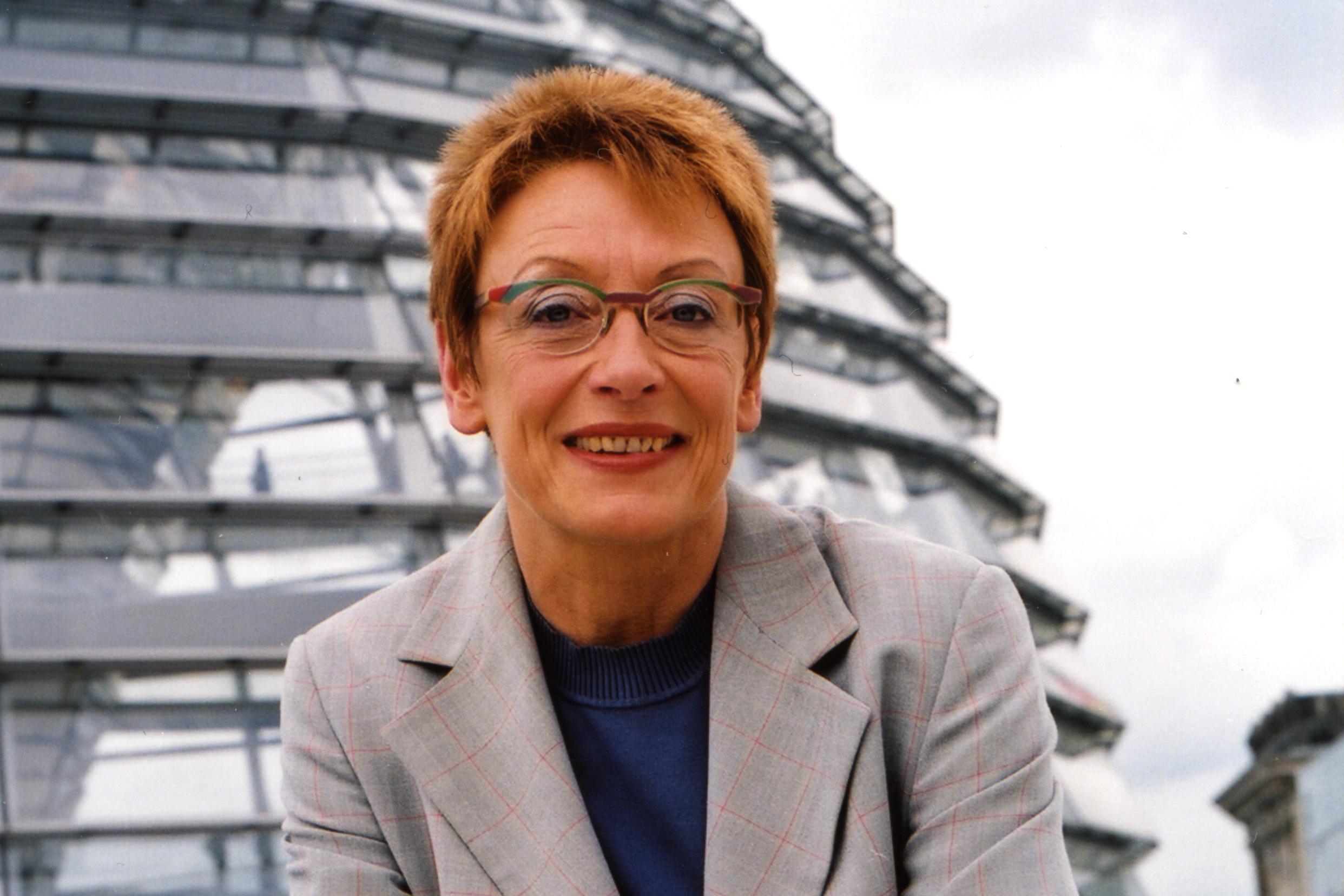 Franziska Eichstädt Bohlig Auf Dem Dach Des Bundestags