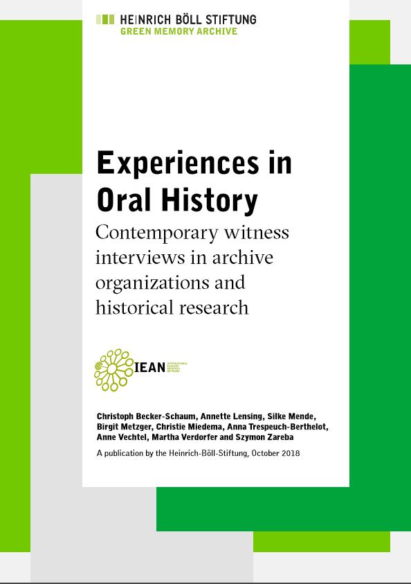 Neuerscheinung: Erfahrungen mit Oral History
